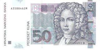 Croatia 50 Kuna 2002 Pick 40 Unc photo