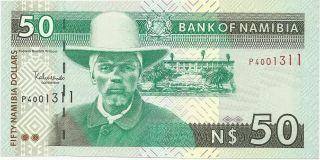 Namibia 50 Dollars 1999 Pick 7a Unc photo