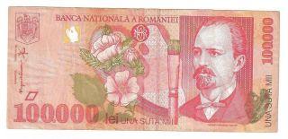 (r981802) Romania Paper Note - 100000 Lei 1998 - Aunc photo