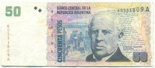 Argentina Note 50 Pesos 2000 Fake P 350 photo