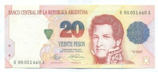 Argentina Note 20 Pesos 1992/4 Replacement Murolo - Fernandez P 343a Xf+ photo