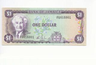 Jamaica 1 Dollar One Uncirculated Unc Fu816861 photo