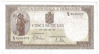 (r411140) Romania Paper Note - 500 Lei 1941 - Aunc photo