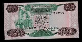 Libya 1/4 Dinar (1984) Pick 47 Unc. photo