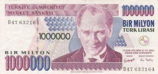 Turkey: 1 Million Lirasi,  L.  1970 (2002).  P - 213.  Crisp Xf photo