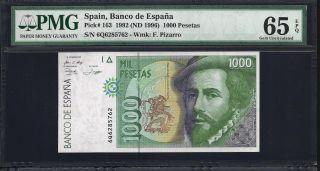 Spain 1000 Pesetas 1992 - Pmg 65 Unc photo