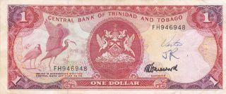 Trinidad & Tobago: One Dollar,  Nd (1985),  P - 36c,  Signature 6 photo