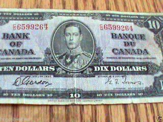 1937 Bank Of Canada Ten Dollar photo