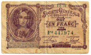 Belguim 1916 One Franc