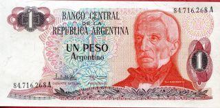 Argentina 1 Peso Argentino 1983 - 1984 P - 311 Unc photo