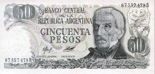 Argentina 50 Pesos 1976 - 1978 P - 301b Unc photo