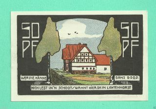 Germany Neustadt A.  R.  50 Pfg.  1921 Notgeld Unc Gem A12 photo