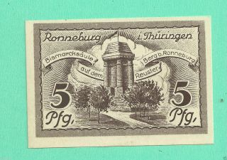 Germany Ronneburg 5 Pfg.  1921 Notgeld Unc Gem Crisp photo