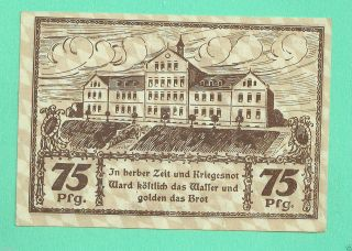 Germany Bad Worishofen Bad Wörishofen 75 Pfg.  1921 Notgeld Unc photo