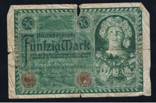 Germany Deutschland 50 Marks 1920 A4172858 photo