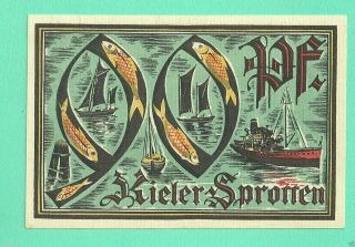 Germany Kiel 90 Pfg.  1921 Unc Gem Notgeld 56318 (bg 4) photo