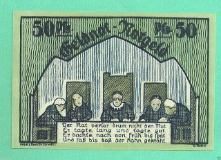 Germany Schmölln (schmolln) 50 Pfg.  1921 Unc Crisp Notgeld Gem Ax4 photo
