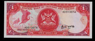 Trinidad And Tobago 1 Dollar (1985) Ad Pick 36a Unc. photo