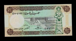 Syria 50 Pounds 1991 Pick 103e Unc. photo