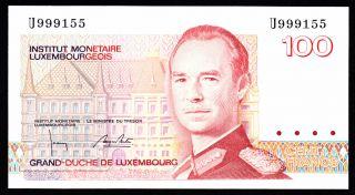 Luxembourg 100 Francs (1986) U Pick 58b Unc. photo