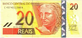 Brazil 2000 ' S Banknote 20 Reais Fauna Money Animal American Currency Unc Brasil photo