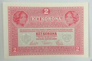 Austria Paper Money 2 Kronen 1917 Unc photo