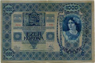 Austria 1000 Kronen 1902 22720 photo
