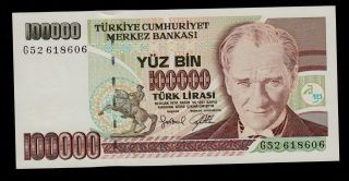 Turkey 100000 Lira L.  1970 Pick 206 Unc. photo