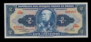 Brazil 2 Cruzeiros (1954 - 58) 1126 Pick 151b Unc. photo