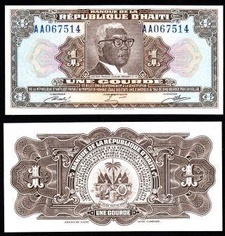 L Haiti 1979 Pick 245A UNC 2 Gourdes