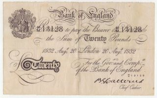 Great Britain Englad 20 Pounds 20 - 8 - 1932 Operation Bernhard See Photo photo