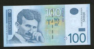 Serbia - Yugoslavia - Unc - Paper Money - Nikola Tesla - 2006. photo