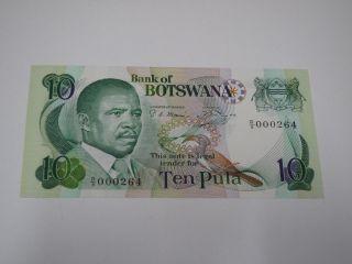 Botswana 10 Pula.  Pic 9a Unc photo