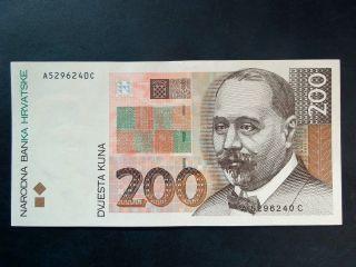 Croatia 200 Kuna 1993.  Unc,  Withdrawn photo