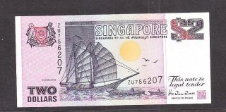 Singapore 1997 Banknote 2$ Unc. photo