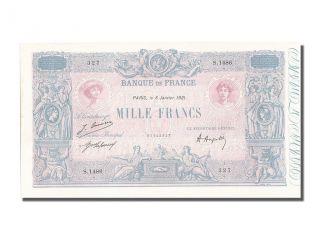 French Paper Money,  1000 Francs Type Bleu Et Rose photo