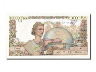 French Paper Money,  10 000 Francs Type Génie Français photo