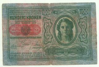 Hungary 100 Korona 1912 See  2rf 21oct photo