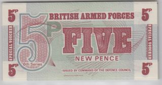 Great Britain - British Armed Forces,  Special Voucher 1972 Sixth Series 5 Pence photo