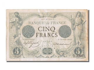 French Paper Money,  5 Francs Type Noir photo