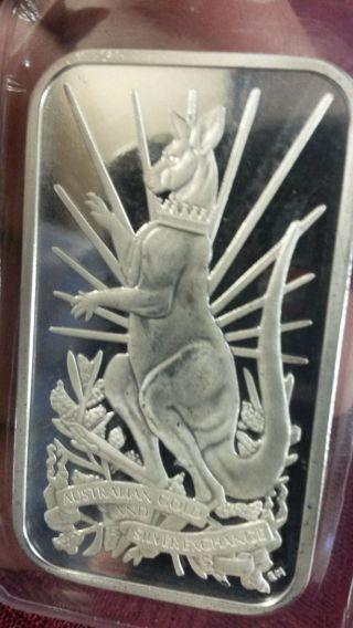 Collectible Agsx 1oz Silver Bullion Bar 2014 photo