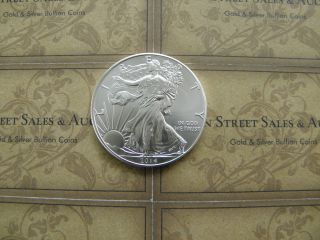 (1) - 2014 American Eagle Silver 1 Oz Bullion Coin Fresh Out Of Tube Bu photo