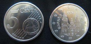 5 Cent Euro Silver Proof.  Spain.  Sc. .  Real Casa De La Moneda EspaÑa - photo