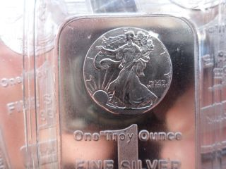 1oz. .  999+ Fine Bar Silver Walking Liberty Design Made In The U.  S.  A. photo