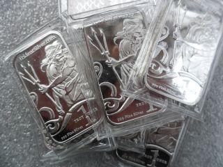 1 Troy Oz.  999 Fine Silver Art Bar photo