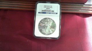 2008 Silver American Eagle Early Release Ngc Ms 69 Blue Label photo