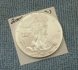 2008 American Silver Eagle. . . . . . . . . . . . . . . . .  Choice/bu photo