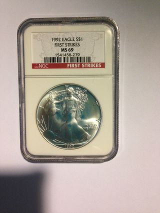 1992 American Eagle In Red Label With First Strikes. .  These Are Very Rare And Hig photo
