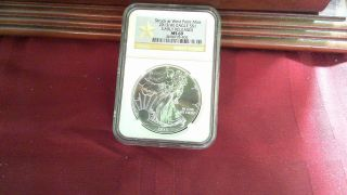 2013 (w) Silver American Eagle - Ms - 69 Ngc - - Early Release photo