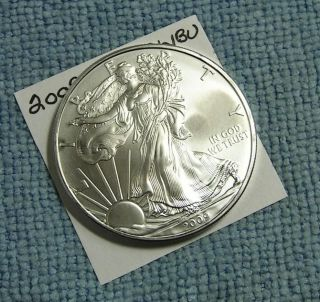 2009 American Silver Eagle. . . . . . . . . . . . . . . . . .  Choice/bu photo